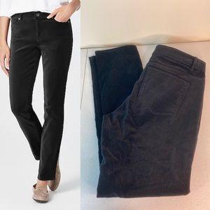 J Jill Authentic Fit Velveteen Jeans Black
